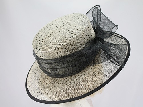 Black and Cream Wedding Hat