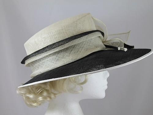Ascot Hats 4U - Black and Cream Wedding Hat f0c409c6d7a1