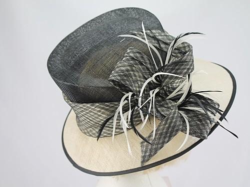 Black and Cream Wedding Hat