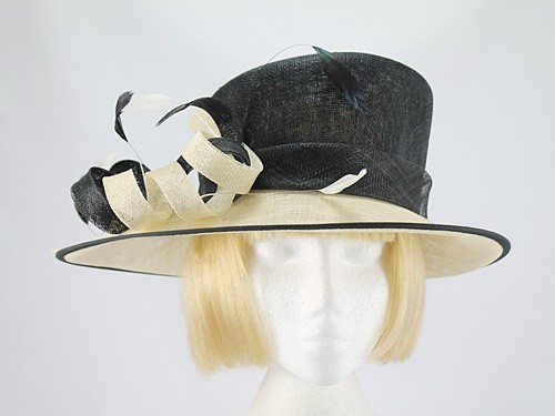 Cream cloche hat with black details, s flapper hat, Great Gatsby party hat, 20s cloche hat, Downton Abbey hat, art deco party hat LaVieDelight 5 out of 5 stars.