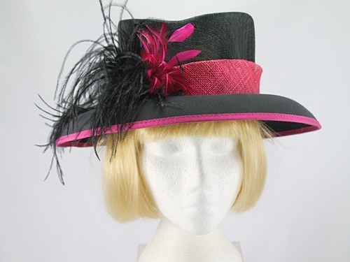 Black and Pink Formal Hat