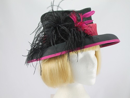 Black and Pink Formal Hat