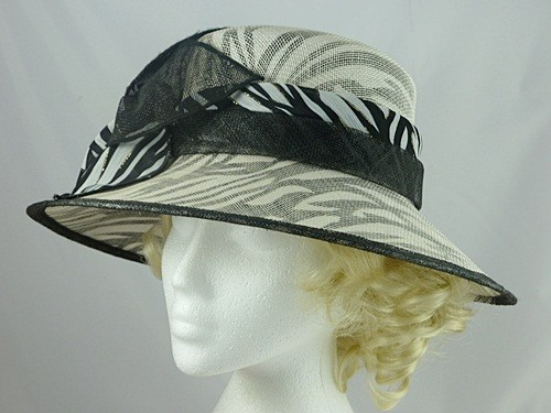 Black and White Wedding Hat
