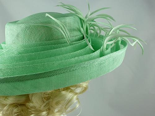 Wedding Hats 4U - Blackberry Hats Mint Green Wedding Hat in Mint Green b84319bdd3b
