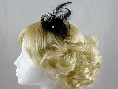 Black Micro Hat with Gem