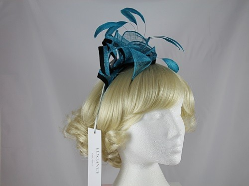 Elegance Collection Sinamay Leaves Fascinator
