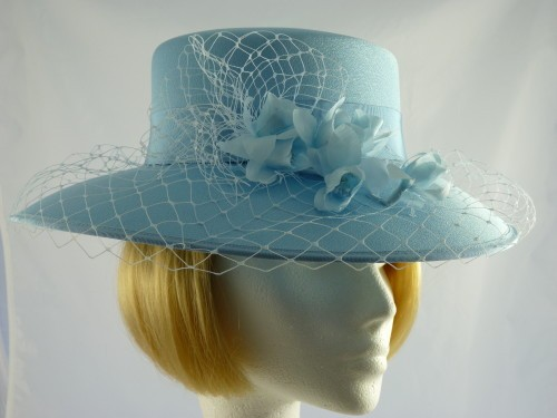 Eastex Ascot hat sky blue