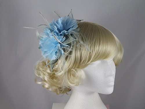 Failsworth Millinery Sinamay and Feather Flower Fascinator