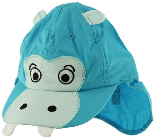 Jiglz Hippo Cap with Neck Protector