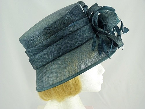 Libra Ascot hat Grey and Petrol