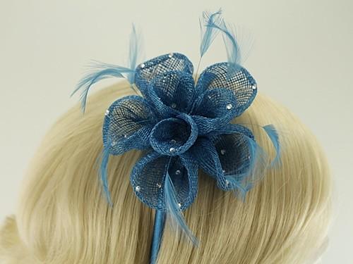 Elegance Collection Diamante Flower Fascinator