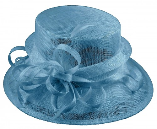 Elegance Collection Sinamay Loops Wedding Hat in Bluebell