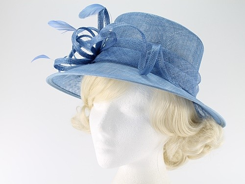 Elegance Collection Sinamay Loops Wedding Hat