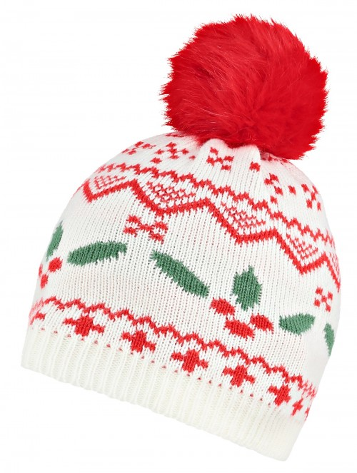 Boardman Holly Bobble Hat in Mink