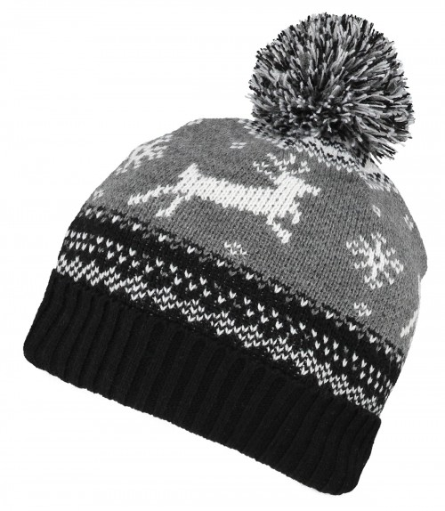 Boardman Reindeer Beanie Bobble Hat
