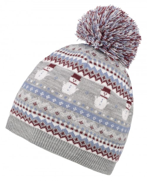 Boardman Snow Bobble Hat in Brown