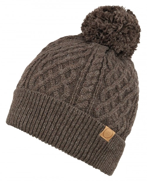 Boardman Bobble Ski Hat in Brown