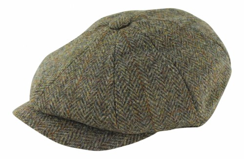 Failsworth Millinery Carloway Flat Cap in Brown