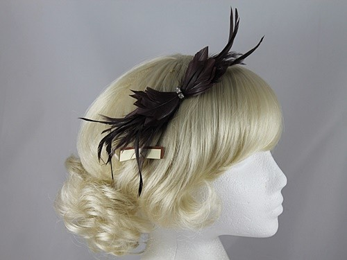 Fascinators 4 Weddings - Failsworth Millinery Small Feather Fascinator in  Brown 3a399d5e641