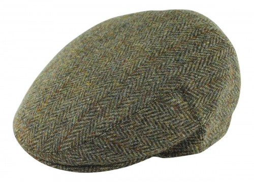 Failsworth Millinery Stornoway Flat Cap in Brown