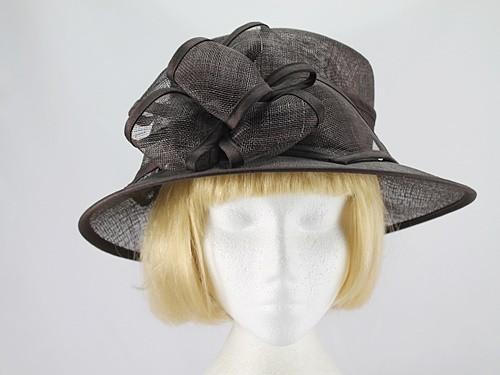 Brown Wedding Hat
