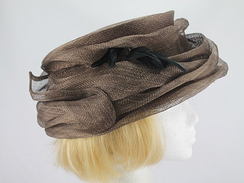 Brown and Black Formal Hat