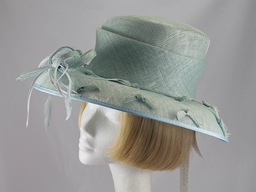 Cappelli Condici Pale Green Wedding hat