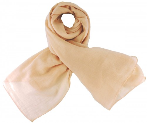 Max and Ellie Fine Woven Scarf in Chalk