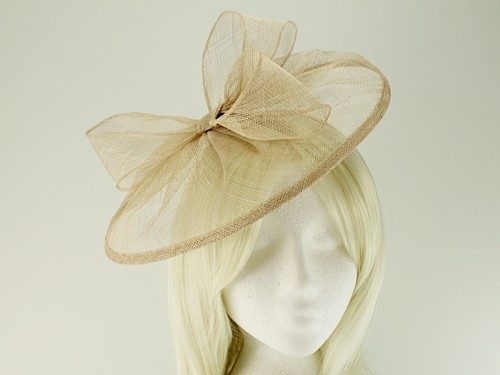 6d4f5ca2 Tiaras 4 Weddings - Failsworth Millinery Sinamay Disc in Champagne