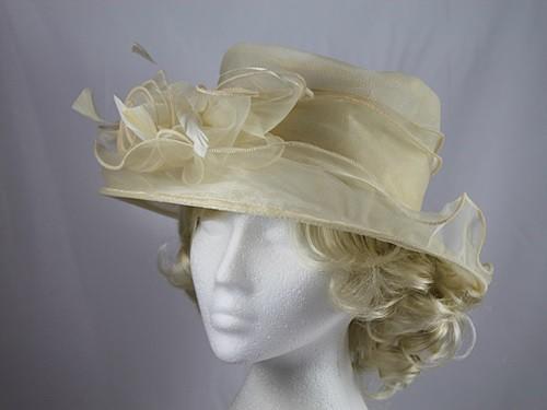 Wedding Hats 4U - Hawkins Collection Organza Wedding Hat in ... a028553841f