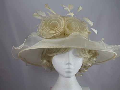 be79cd7bc77 Wedding Hats 4U - Hawkins Collection Large Brim Collapsible Hat in Champagne