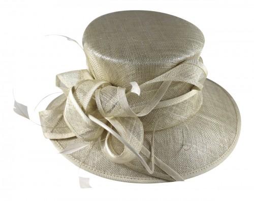 Wedding Hats 4U - Hawkins Collection Wedding Hat in Champagne - WH245 67b2fd878c4