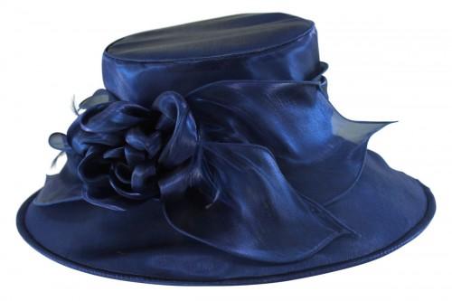 f1e8b4d802980 Ascot Hats 4U - Failsworth Millinery Organza Wedding Hat in Cobalt ...
