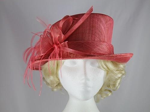 Wedding Hats 4U - Elegance Collection Wedding Hat in Coral 3c3ec71856e2