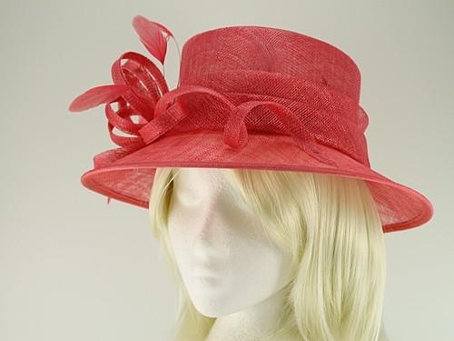 Elegance Collection Sinamay Wedding Hat with Matching Sinamay Bag