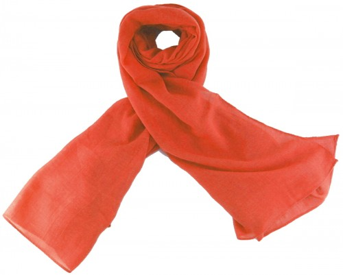 Max and Ellie Fine Woven Scarf in Coral