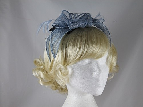 Failsworth Millinery Sinamay Fascinator in Cornflower