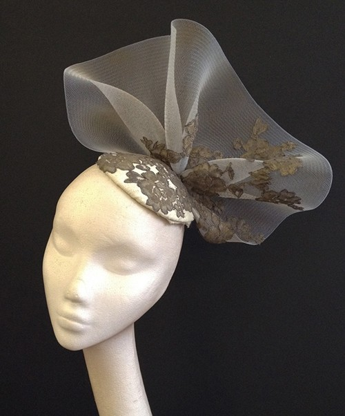 Couture by Beth Hirst Antique Gold Lace Percher