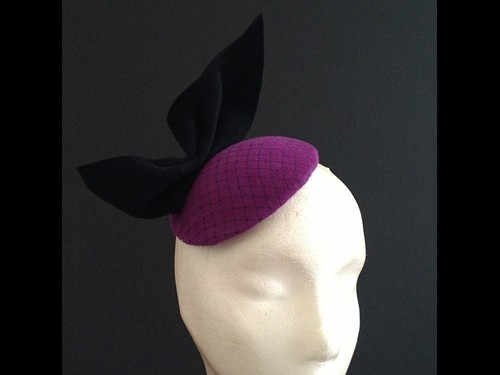 Couture by Beth Hirst Purple Button with Black Bow