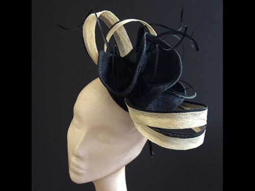 Couture by Beth Hirst Black and Sand Flower Twists