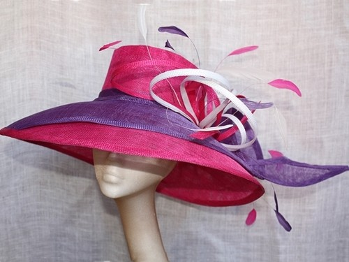 Couture by Beth Hirst Pink and Purple Double Brim Twist