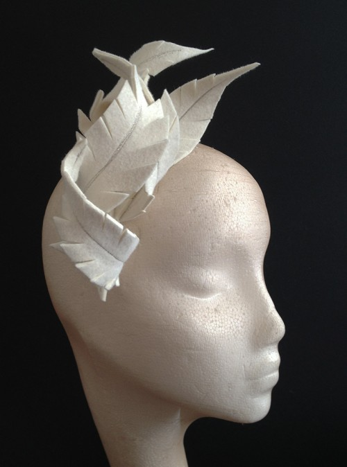 Couture by Beth Hirst Ivory Feather Headpiece