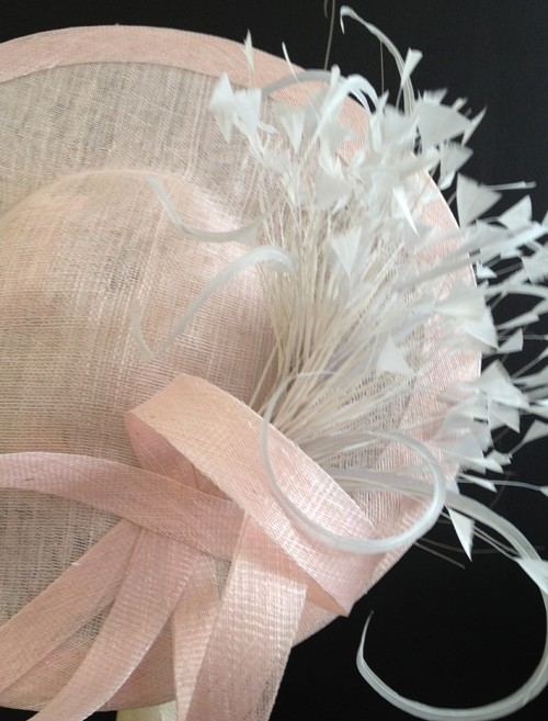 Couture by Beth Hirst Oyster Pink & Silver Saucer
