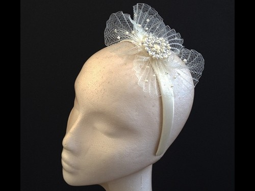 Couture by Beth Hirst Pearl and Crystal Headband