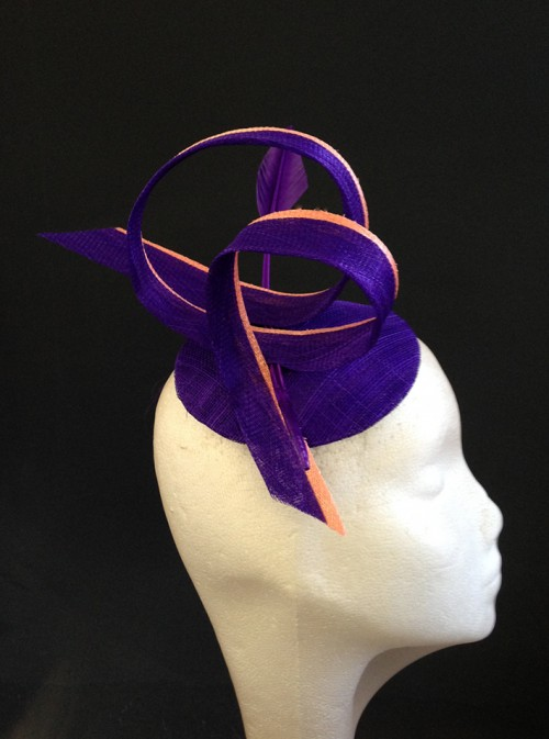 Couture by Beth Hirst Purple and Coral Swirls