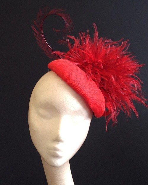 Couture by Beth Hirst Red Feather Beret