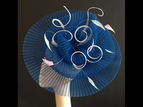 Couture by Beth Hirst Royal Blue Crin Headpiece