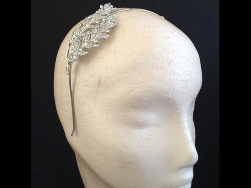 Couture by Beth Hirst Silver Leaf Tiara