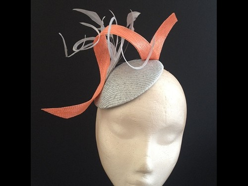 Couture by Beth Hirst Silver and Coral Button
