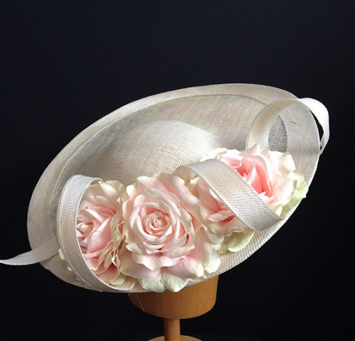 Couture by Beth Hirst Annabelle Pale Pink and Ivory Saucer